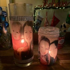 Personalized candle holder